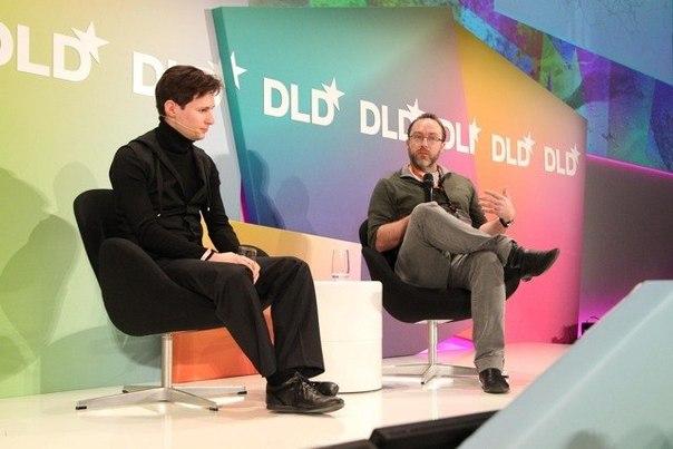 Павел Дуров и  Джимми Уэйльс