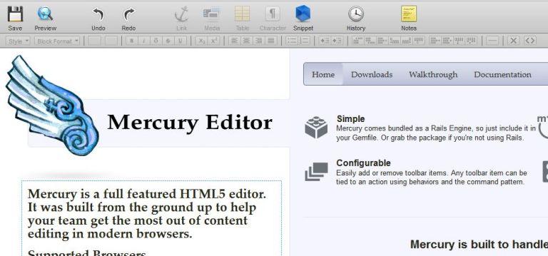 Редактор Mercury