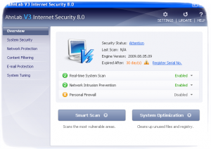 Антивирус AhnLab V3 Internet Security 8.0