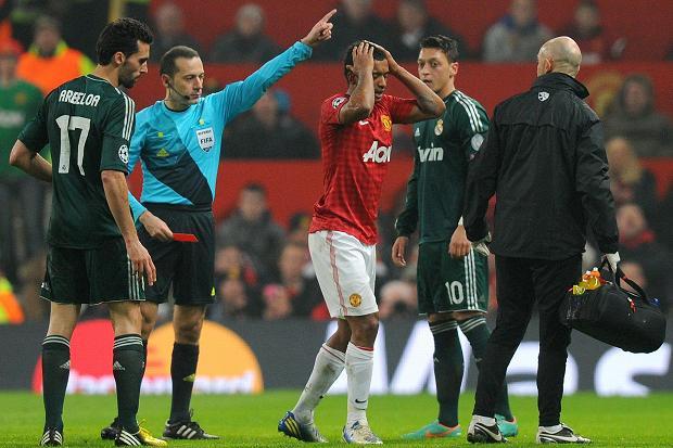 Удаление Нани с поля в матче с Реалом