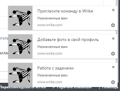 Уведомления в Wrike