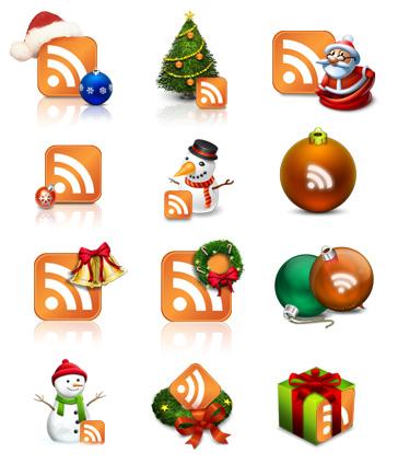 Настоящие иконки RSS на Новый Год