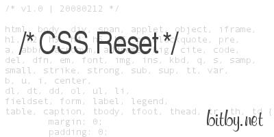 Сбрасываем стандартные css стили браузеров