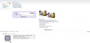 RoundPic - Скриншот главной страницы сервиса
