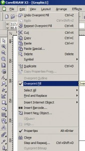 Overprint Fill в CorelDRAW